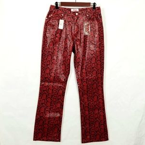 Faux Snakeskin / Leather Skinny Pants
